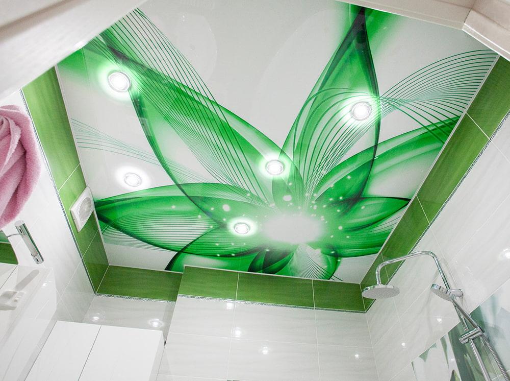 Картинки для натяжных потолков в ванную фотопечать