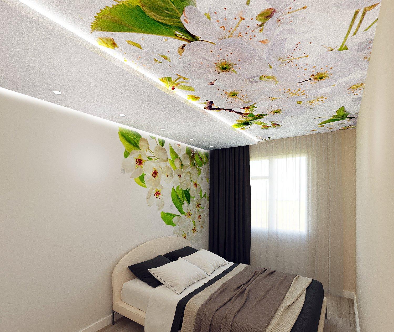 контрастные цветовые натяжные потолки с фотопечатью по углам фото духовку заполнить